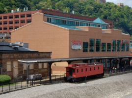 Some of the old railway buildings and a caboose - who doesn't love a caboose