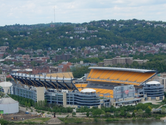 Heinz Field, including doors to the home side entrance,