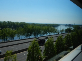 From CT Convention Center. That's Great River Park across the river on the left edge.