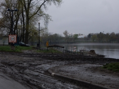 Great River Park covered in mud after five days under water.