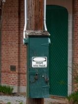 Very important door. It is an electric railway.