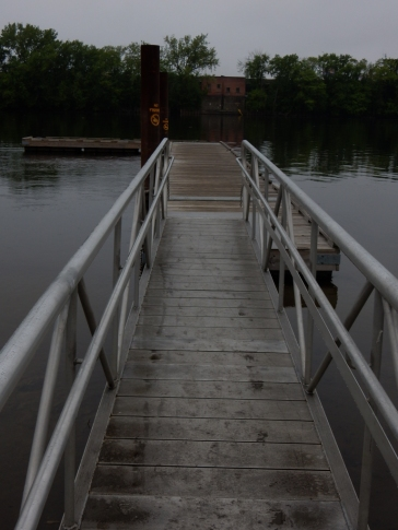This was the boat dock, before it sunk in the rising river.