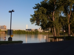 The river is rising.