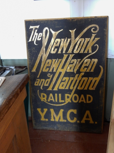 Sign from the great days of rail travel