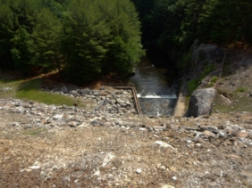 Spillway of the Thomaston Dam