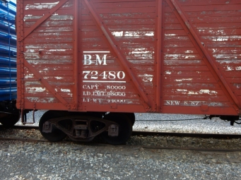 Boston and Main wooden boxcar