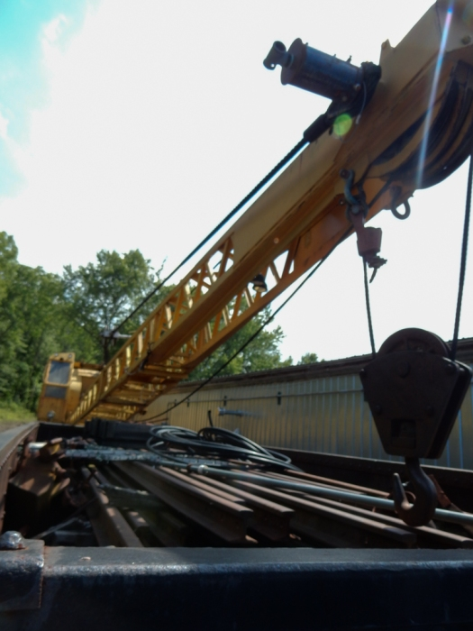 Business end of the rail crane