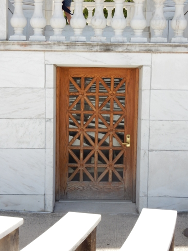 One of the doors in the amphitheater behind the Tomb of the Unknown Soldier