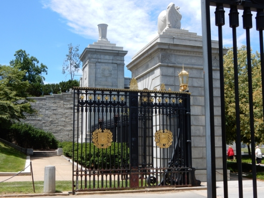 The entrance gates to Arlington National Cemetery