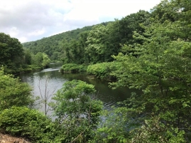 Our trip took us along the Naugatuck River (Faith's photo)