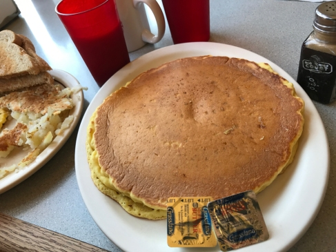 The Grove's pancakes are large, thick and delicious.
