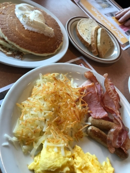Denny's - breakfast at 2:00 pm