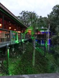 The restaurant deck.