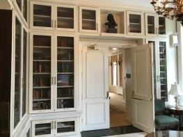 At the end of the hall where our reception was held, there's a little library. So many doors!
