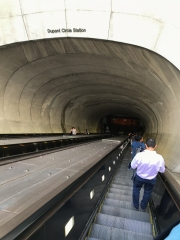 Not a door, more like a portal. Dupont Circle Metro station