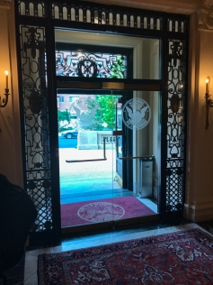 Front doors from the inside of the main lobby. No, I wasn't going to use my phone.