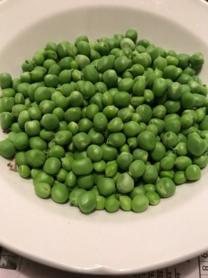 Fresh peas - I think they're gone, but they were good.
