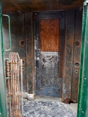 This old door caught my attention. Buttoned up for now, but I'm guessing it will roll again.
