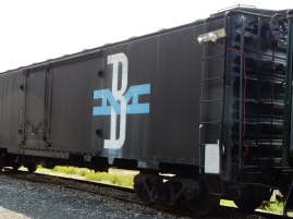 Boston and Maine metal boxcar.