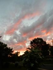 Solstice sunset