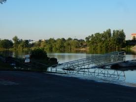 High water vs. floating ramp