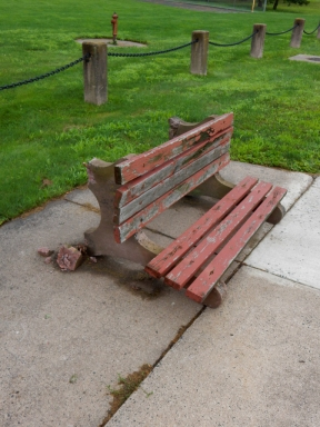 These benches needed a little TLC, but this was senseless.