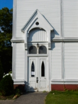 Side doors to First Congregational Church