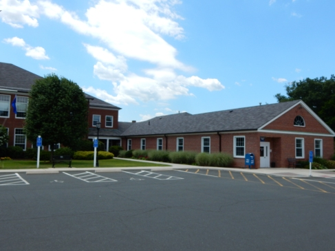 Windsor Locks Town Hall and the extension biulding