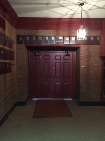 Entrance to an auditorium style room.