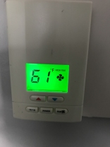 This was the temp when I walked into my hotel room. It's hot and humid outside, but that's a little chilly.