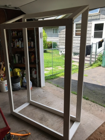 Assembled frame of the new shed. This will be wrapped in plywood on the outside, Slatwall™ on the inside and doors - there will be doors.
