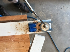 this pocket-hole jig makes it quick, safe and easy to drill the pockets