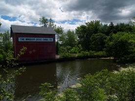 Windsor Locks Canal service building near the south end of the canal