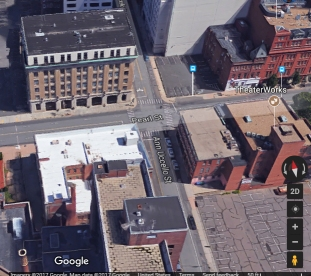 HELCO office building as it looks today. (Google). The building with the white roof is Fire Station #4