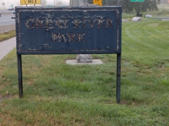 Park sign at the north end - needs a little TLC