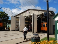 Doors on the trolley barn