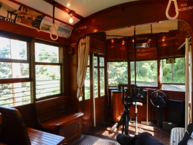 The business end of the trolley we were riding in.