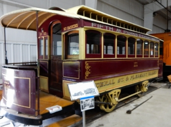 This was a trolley car that was drawn by horses or mules. If this operated in Pittsburgh, those had to be tough mules.