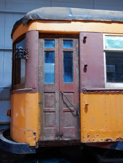 Those are some old trolley doors.