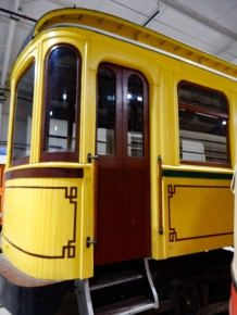 This was a private trolley car that was built out for the owner of the line.
