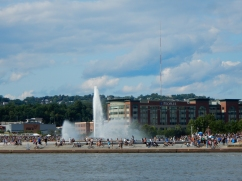 The fountain at Point State Park - PNC trivia says it's 6,000 gallons per minute.