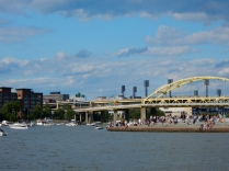 """That's """"The Point. The confluence of the Monongahela, Allegheny and the birth of the Ohio River."""