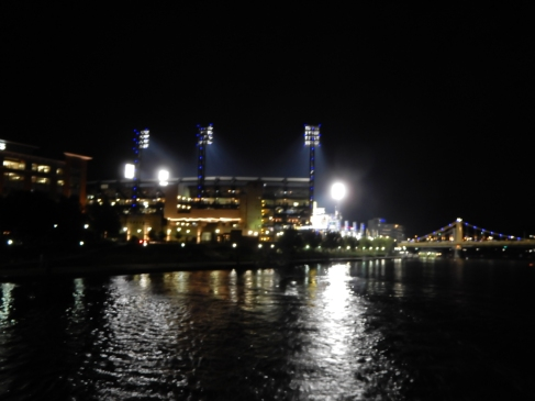 Game over - The Pirates lost, but we had a great time.