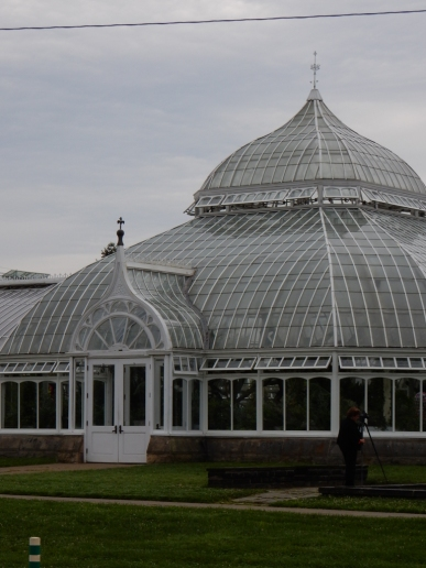 Side entrance to Phipps Conservatory.