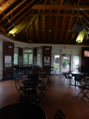 Inside the visitor center at Schendley Park