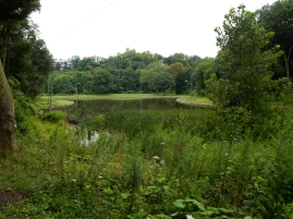 Panther Hollow Lake. There are plans to rebuild the boathouse that once stood on the shore.