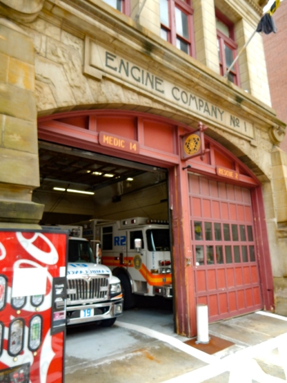 Engine Company #1 has the right color doors, but the wrong color trucks.