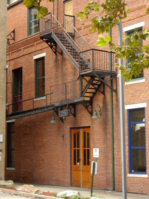 I like the brick detail, the fire escape and the doors.