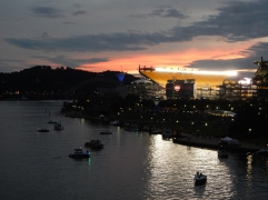 Heinz Field is almost empty. The Regatta is winding down and we're heading home.