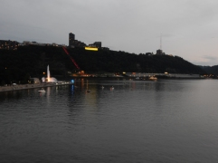 The fountain at Point State Park and the Duquesne Incline. At this point, all three rivers are in view.